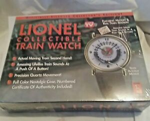 NEW AUTHENTIC LIONEL COLLECTIBLE TRAIN WRIST WATCH SEALED IN BOX~TRAIN MOVES