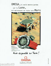 PUBLICITE ADVERTISING 125  1998  Omega montre speedmaster professional Lune Mars