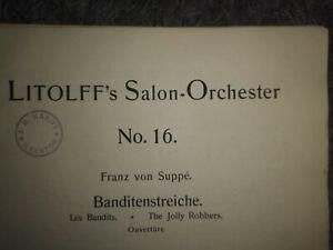 Salonorchester Noten von Franz von Suppé - BANDITENSTREICHE - Ouvertüre