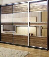 Sliding Wardrobe Mirror Wood Panel Doors. Made To Measure. Custom Design