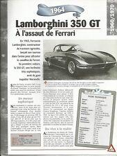 FICHE TECHNIQUE AUTOMOBILE LAMBORGHINI 350 GT 1964