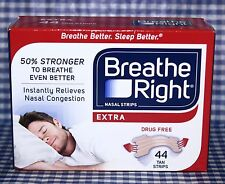 44 TAN STRIPS Breathe Right Extra Nasal Strips Relieves Congestion DRUG FREE