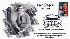 18-058, 2018, Mister Rogers, Pictorial Postmark, First Day Cover