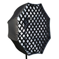 80cm Octagon Grid Umbrella Photo Softbox Reflector for Flesh Speedlight GIL
