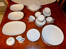 39 Pcs Noritake BROOKWHITE Porcelain China With Nice Serving Pieces