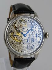 Unique Skelet Horloge Seagull mechanical movement type Unitas 6497 skeleton watch