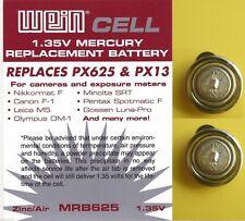 Gossen Lunasix 3 - Luna Pro S - Kit two batteries 1.35 V MRB 625 + washer