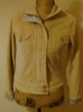 CUTE 'VINTAGE' (80''s) CORDUROY BOMBER JACKET FROM PILOT - SIZE 10 - TAN