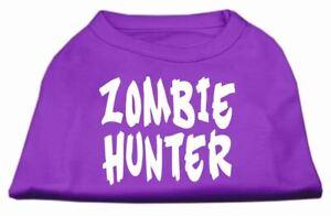 Zombie Hunter Screen Print Dog Cat Pet Puppy Halloween Shirt