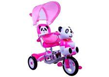 Dreirad Panda Rosa Sonnendach Stahlrahmen Dreirad für Kinder