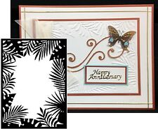 Darice Embossing folder Leafy JUNGLE BORDER frame 1219-114 Cuttlebug Compatible
