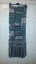 Warehouse Paisley Bandeau Maxi Dress - Size 16