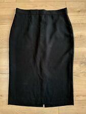 FRENCH CONNECTION Black High Rise Pencil Skirt Size 16 VGC Work Career