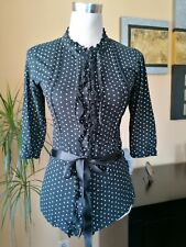Women's blouse ,black with a small pattern, size M.
