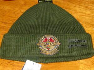 Polo RALPH LAUREN Beanie  Hat Cap Military Green NWT