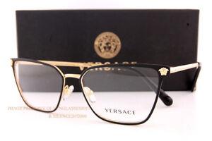 Brand New VERSACE Eyeglass Frames VE 1275 1433 Matte Black/Gold Women Size 54mm