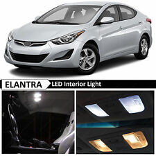 White Interior Map LED Lights Package Kit Fit 2011-2015 Hyundai Elantra 10 Bulbs