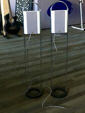 VERY NICE HARD TO FIND JAMO SPEAKERS AND SUB WOOFER WEIGHTED BASE CHROME STAND