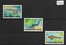 SMT, MAURITANIA,1979, a very rare fishes set of 3, luxury MNH, CV € 300+++ RRR