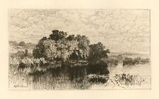 "A. F. Bellows original etching ""Mill Pond At Windsor"""