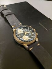 Vintage Gold Plated 1960s Chronograph Watch with Panda Dial by Cimier Sport