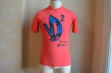 DSQUARED² COOL DYE LIGHT RED D2 #STUD LOGO PRINT T SHIRT S STUDIO MADE IN ITALY