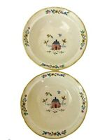 2 HEARTLAND Soup Bowls International China Stoneware Dishes Farm 7774 - MINT -