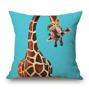Giraffe Gifts Cushion Cover -Many Designs Presents Gift Giraffes Quick Dispatch