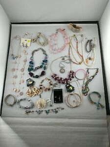 All *DESIGNER SIGNED* Jewelry Lot GIRLY Pink Purple~ Pounds 20+ pieces *i