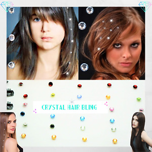 8 X Crystal Hair Bling Diamond Fashionable Clip-In Extension 1st Class Delivery