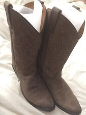 "Old West OW2051L Ladies Polanil Leather Western Boots Apache Round Toe 11"" Shaft"