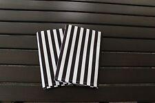 """Referee Stripes 18"""" x 18"""" Napkins 1 Dozen"""