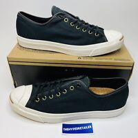 Converse Jack Purcell Canvas Low Black White Men's  Size 11.5 Sneakers 142691C