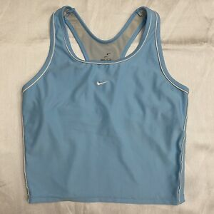 Y2k Nike cropped workout tank center Check XL