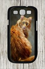 CAT WITH SURPRISED ATTITUDE FUNNY CASE COVER FOR SAMSUNG GALAXY S3  -rdf7Z