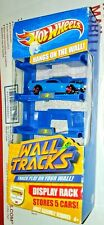 2010 Hot Wheels Wall Tracks ☆ Display Rack Wall Hanging Holds 5 Cars Includes 1