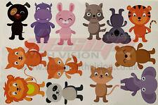 mixed Animals Bedroom wall stickers Vinyl Graphics Baby Nursery Childrens Window