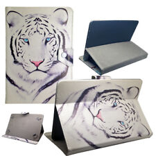 Housse Etui Tablette Galaxy Tab Universelle - 10 Pouces - Design Tigre Blanc