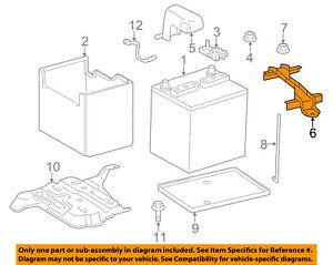 Scion TOYOTA OEM 11-16 tC 2.5L-L4 Battery-Hold Down Tie Bracket Clamp 7440421040