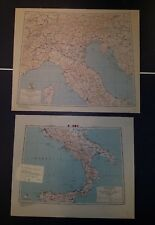 """1943 US Army """"Special Strategic Maps"""" Italy AMS 6201 1:500,000"""
