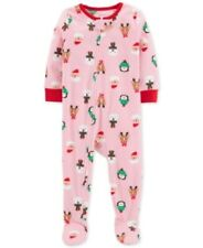 Carter's Toddler Girls Holiday-Print Fleeced Pajamas Size 5T