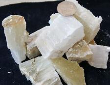 10 @ 5cm Raw Selenite Crystal Wand GEMSTONE Dowser Angel Stone Healing Chakra