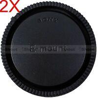 2pcs Rear Cap Cover for Sony Micro SLR Camera E FE SEL Mount Lens FE55/1.8