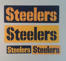 "Pittsburgh Steelers FATHEAD Lot/4 Different Team Banner Graphics (9"" to 21"") NFL"