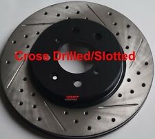 Fits Honda CRX Si Drilled Slotted Brake Rotors Made From Brembo Front Rear