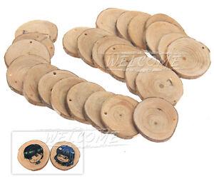 24pcs Rustic Natural Wood Log Slices Discs for DIY Crafts Wedding Centerpiece