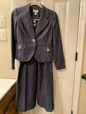 Ann Taylor Loft Denim Color 2 Piece Suit 00P