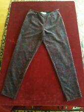N10 Pantalon femme velours ras LEONE T.40 VINTAGE woman velvet trousers siz M