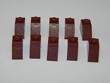 Lego Lot Of 10 Reddish Brown Reddish Brown Slope 45 2 x 1 Bricks Buiding Pieces