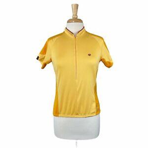 Pearl Izumi Women's Yellow Jersey Cycling Bike Triathlon Jersey Shirt Size Large